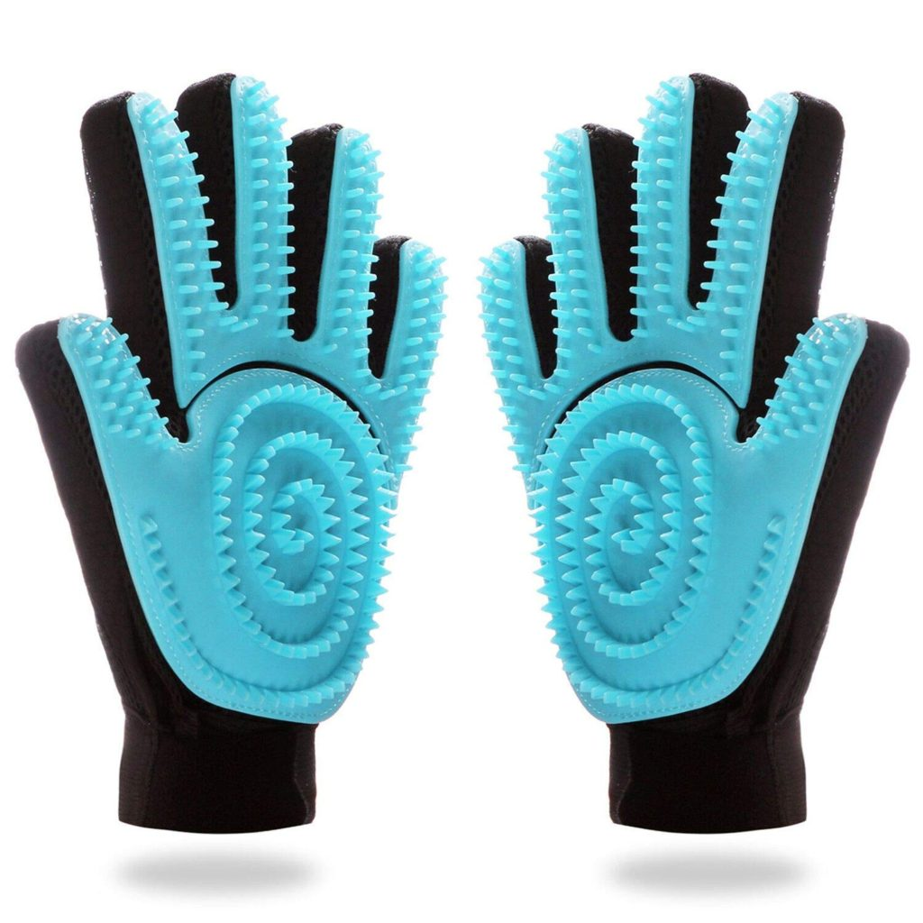 Fastdeer Pet Grooming Gentle Brush Glove Best Horse Deshedding Tools