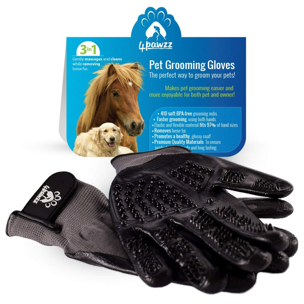 4pawzz Premium Grooming Gloves Best Horse Brushes