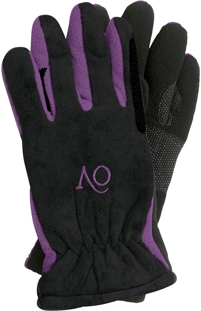 Ovation Polar Suede Fleece Horse Riding Gloves for Kids