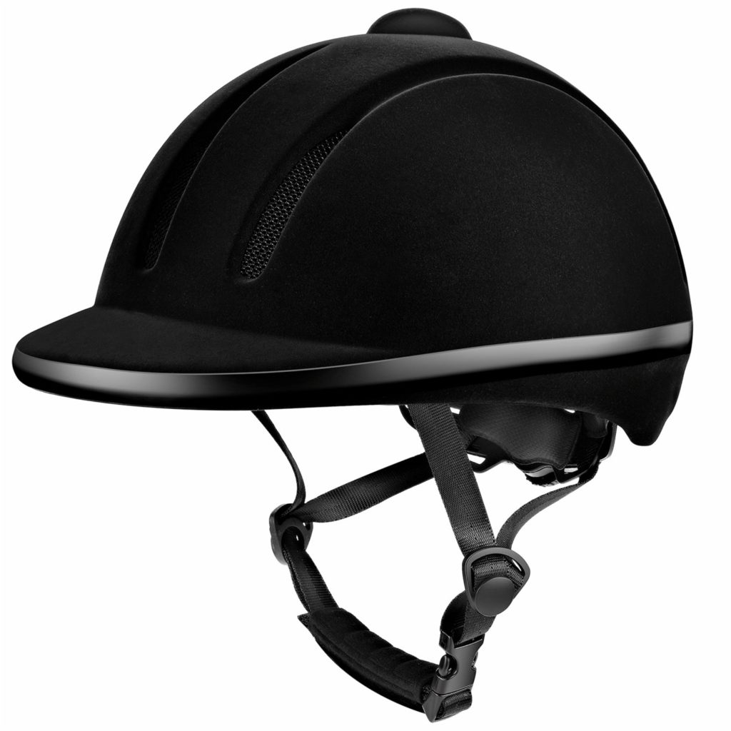 Tontron Velvet Texture Equestrian Riding Helmet for Kids