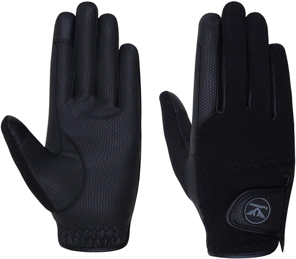 TuffRider Fleece Back Smart Horse Riding Gloves for Women