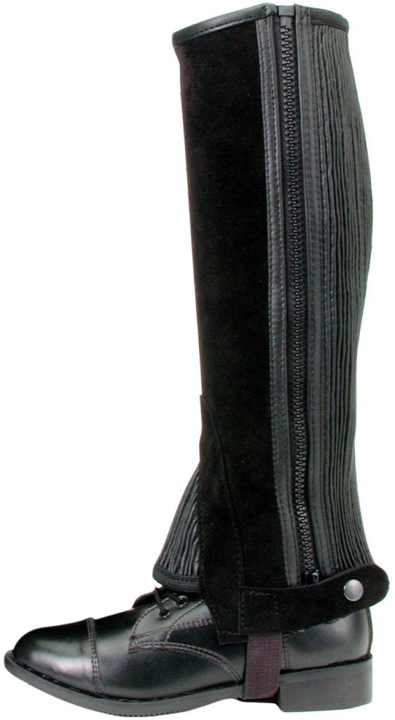 Tough 1 Suede Leather Half Chaps for Women