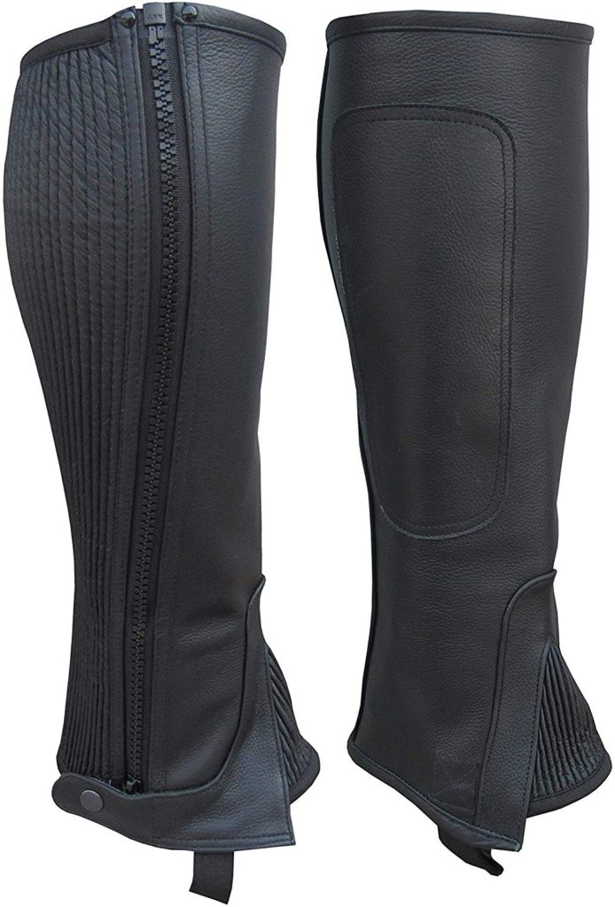 A&H Apparel Adult Leather Half Chaps